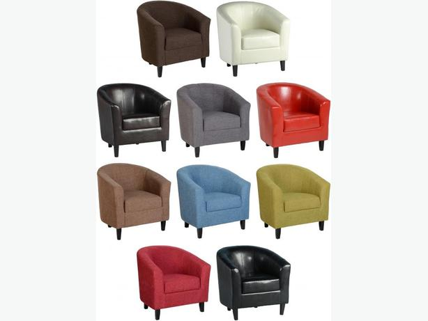 TUB CHAIR - BRANDNEW- CHOICE OF COLOURS
