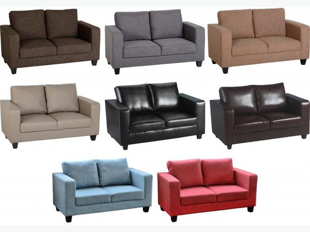 2 SEATER LEATHER SOFA - OR AVAILABLE ALSO IN FABRIC