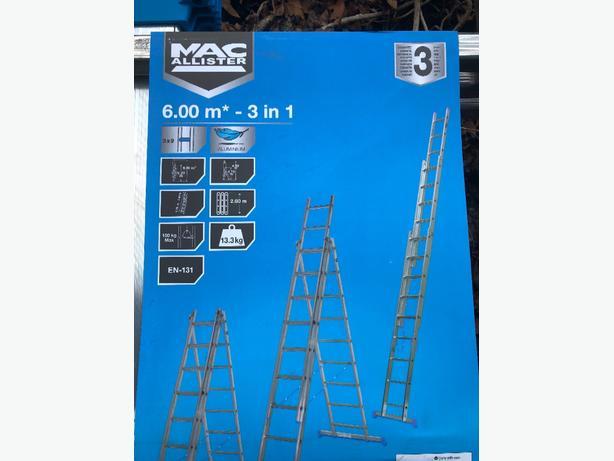 Mac Allister 3 in 1 ladder