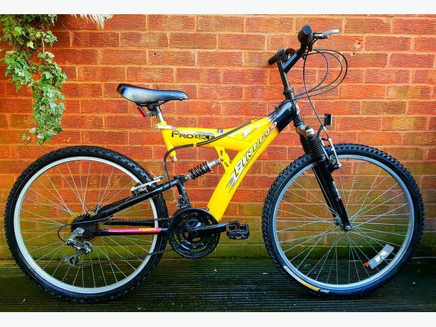 """Probike Firefox bike,26""""wheels,dual suspension,18 speed"""