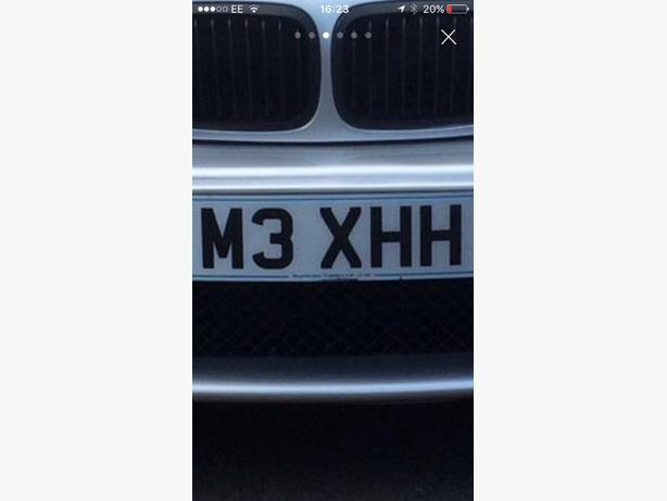 M3XHH registration plate