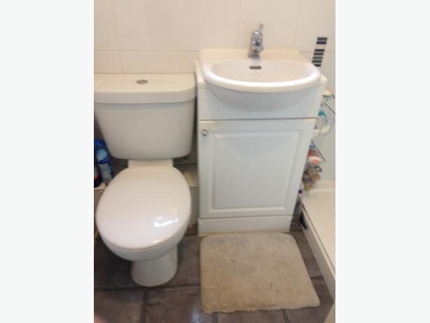 toilet and vanity unit