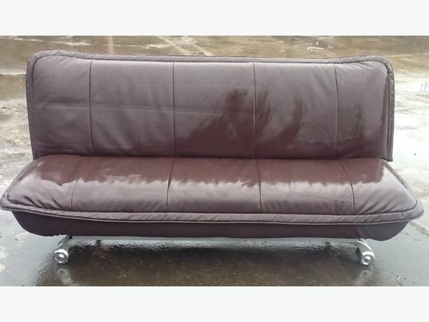 Leather sofa bed 2 available