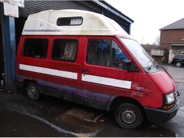 Renault Traffic T1100 diesel High Top, campervan L reg 1994....,needs clutch