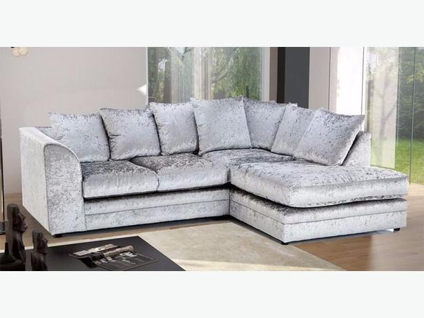 """CHICAGO"" VELVET CRUSHED CORNER SOFA"