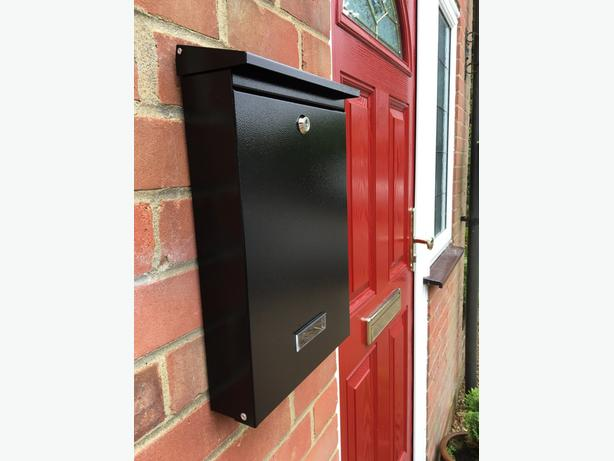 Black Outdoor Letterbox