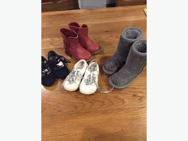 Four pairs of infant size 6 shoes