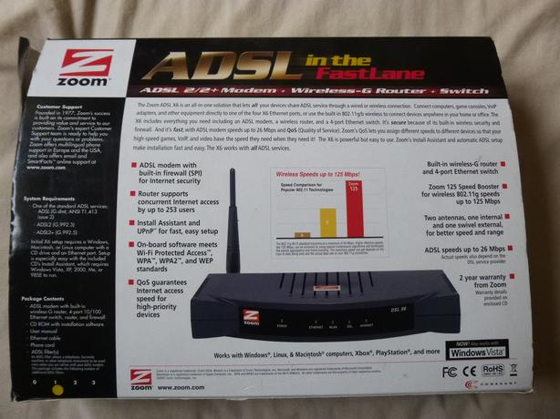 ADSL MODEM MAKE ZOOM