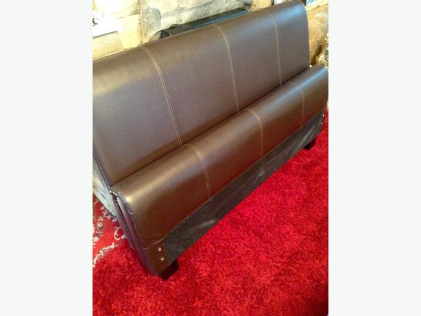 Double Bed & Mattress (Chocolate Brown Leather)