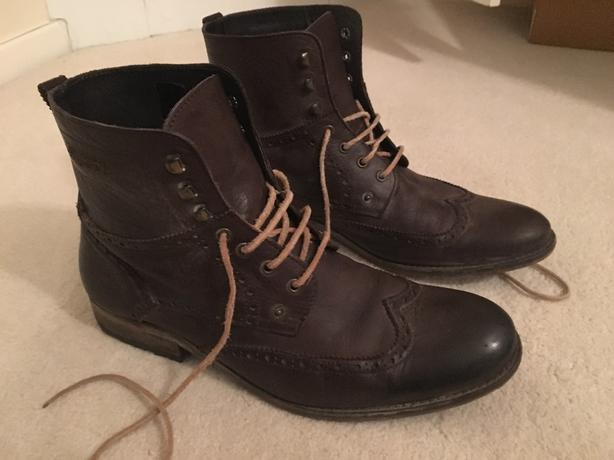 Mens Superdry Leather Boots
