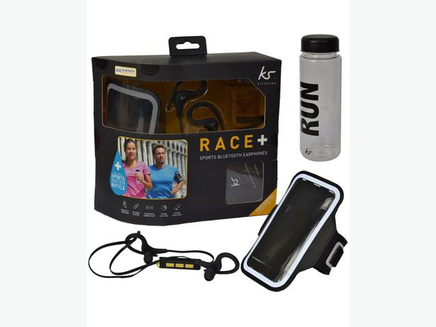 Kitsound Race Sports Bundle - Earphones, Armband, Bottle