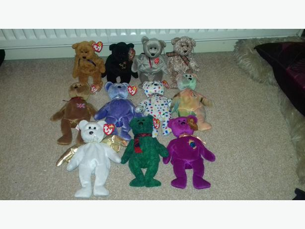 Bundle of TY Teddies (11 in total)- All taged