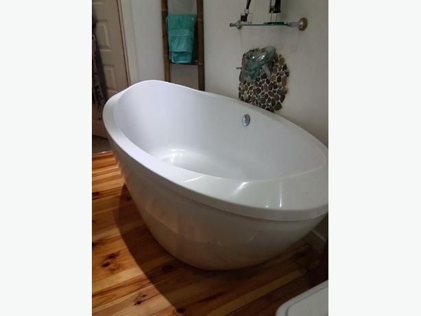 egg shaped bath