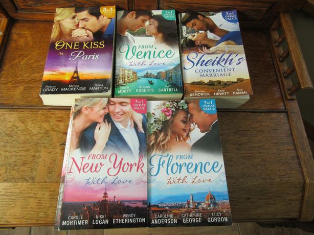 COLLECTION OF 5 : 3 IN 1 ( 15 STORIES ) MILLS & BOON BOOKS