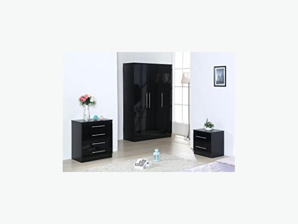 4 DOOR GLOSS WARDROBE SET - BRANDNEW*