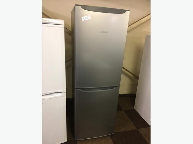 TALL SILVER HOTPOINT FRIDGE FREEZER GOOD CONDITION🌎🌎PLANET APPLIANCE🌎