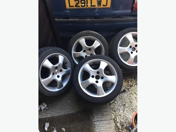 Rare set old skool mille miglia spider alloys 15 inch