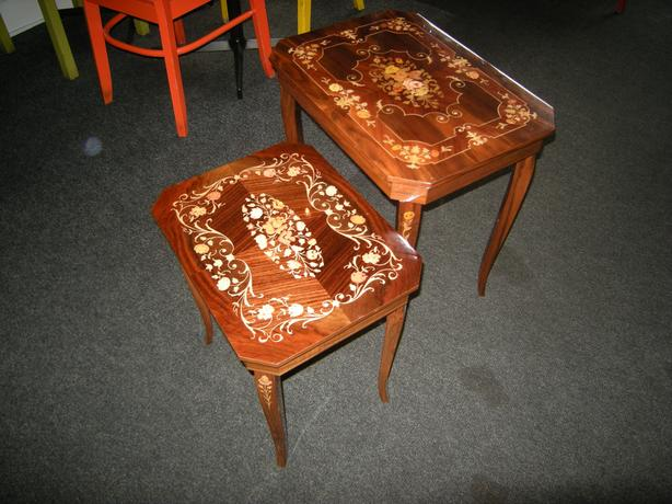 SET OF TWO musical tables