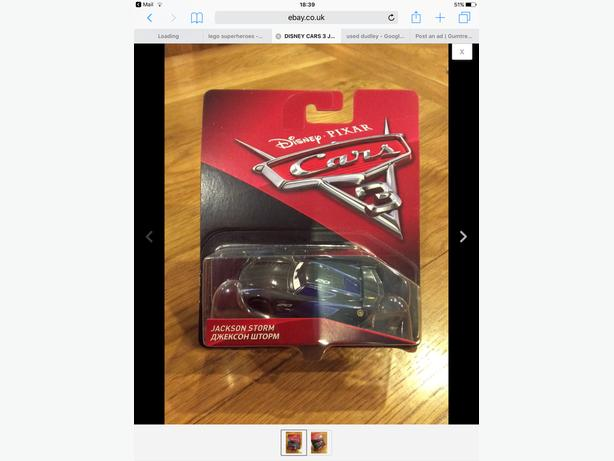 BRAND NEW IN PACKAGING RARE 'JACKSON STORM CAR'