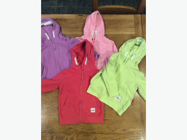 Four Next branded zip up hoodies aged 18-24 months
