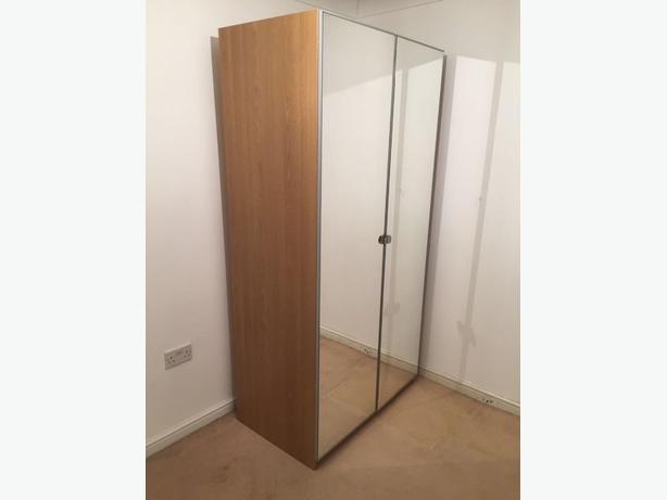 Ikea Pax wardrobe with mirrored doors
