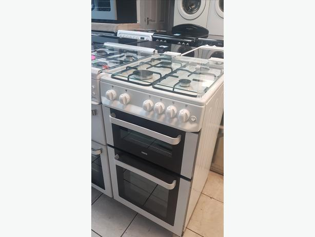 Zanussi ZCG563FW 50cm Double Oven Gas Cooker with 4 MONTHS WARRANTY