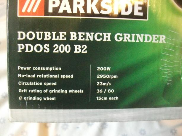 "bench 6"" double wheel grinder,  new boxed"
