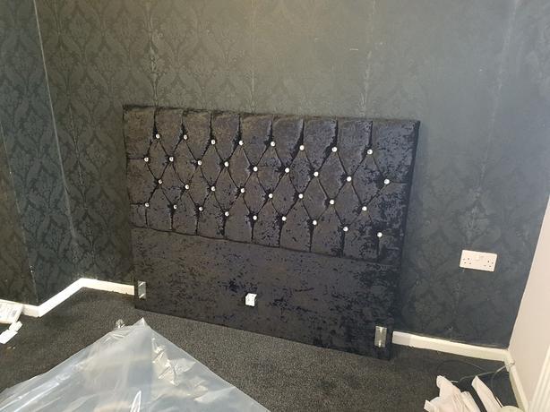 double bed Brand new velvet bed frame