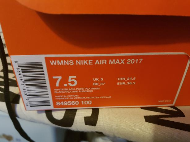 Genuine Nike Air Max 2017s Womens Size 5