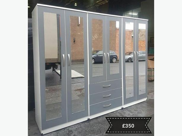 GREY FITMENT COMBI WARDROBE SET - BRANDNEW £295