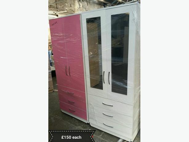 2 DOOR COMBI WARDROBE - CHOICE OF WITH MIRROR OR WITHOUT