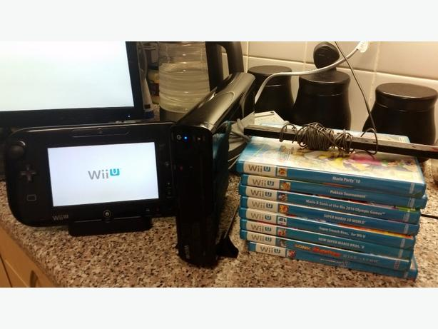 wii u console and 8 games bundle