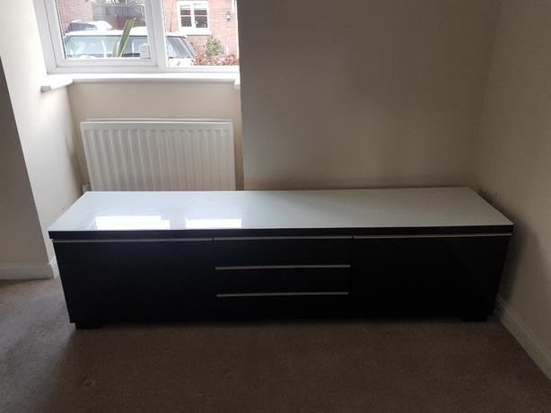 IKEA television and storage bench