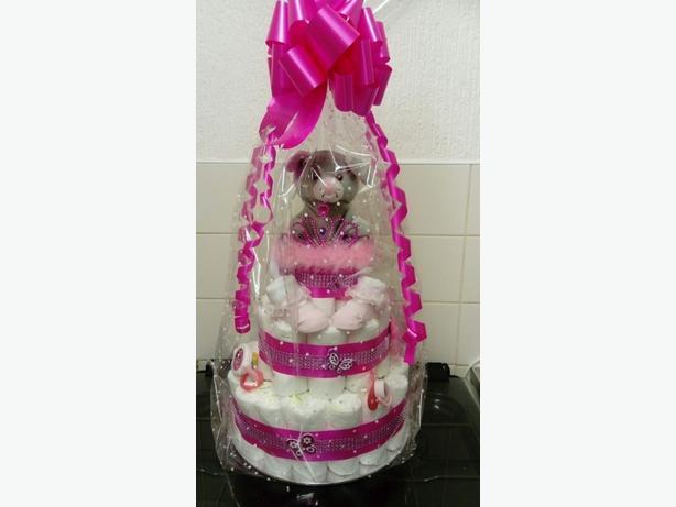 Girl nappy cake
