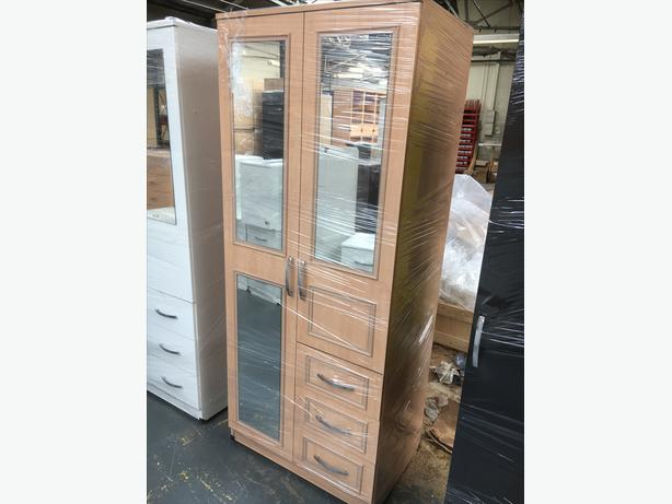 COMBI WARDORBE WITH MIRRORS AND DRAWS - COMPACT £99
