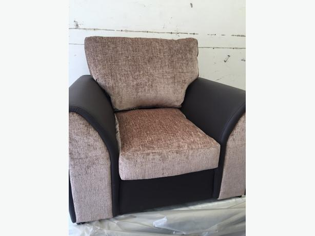 1+3 seater sofa brown and mink>> brand new