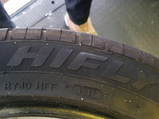 4 x Hifly Nearly new Tyres 255/45R18s