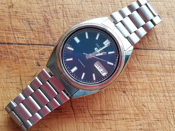 VINTAGE ALL ORIG ST/STL SEIKO 5 21JLS AUTOMATIC D/DATE MENS WATCH GWO