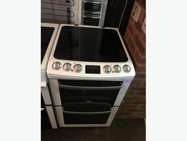 WHITE AND SILVER ZANNUSSI 60CM ELECTRIC COOKER🌎🌎PLANET APPLIANCE🌎🌎