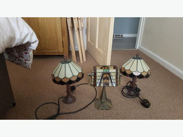 Tiffany style lamps and tealight holder
