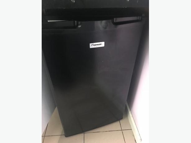 Black under counter fridge