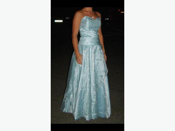 blue prom/bridesmaid dress