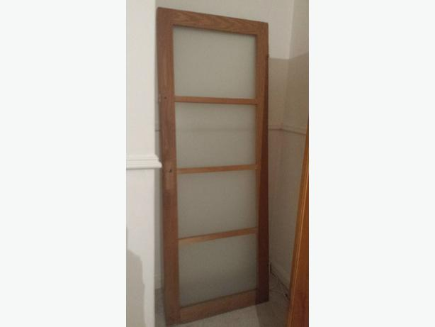 Oak glass door