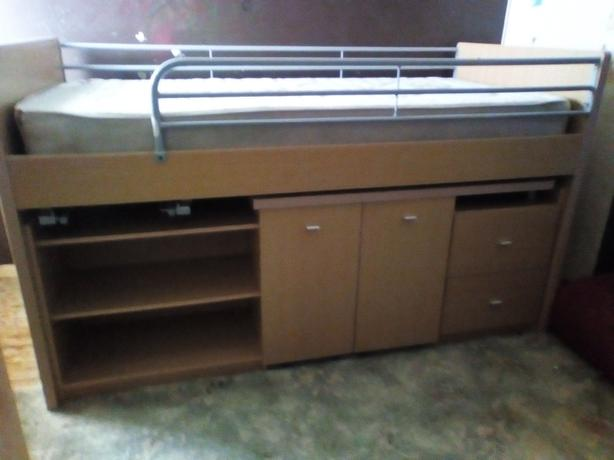 Hi-Sleeper Bed With Underneath Pull Out Desk and Chair