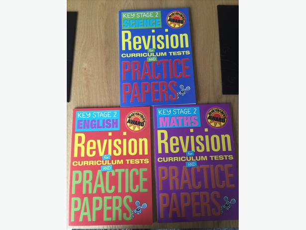 set of 3 new REVISION Books (Maths, English & Science) Key stage 2