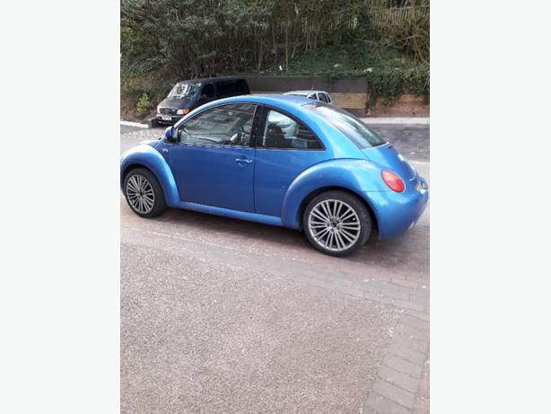 vw beetle 2001 low miles private reg