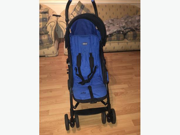 CHICCO ECHO STROLLER- BLUE