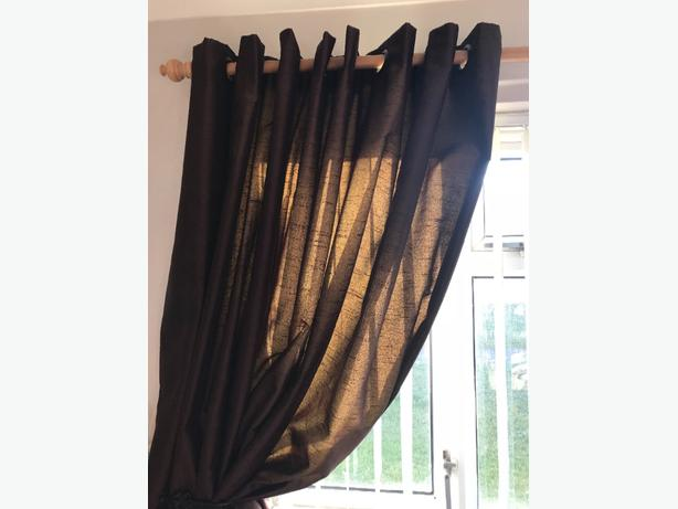 CURTAINS CHOCOLATE BROWN