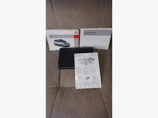 zafira handbook and folder