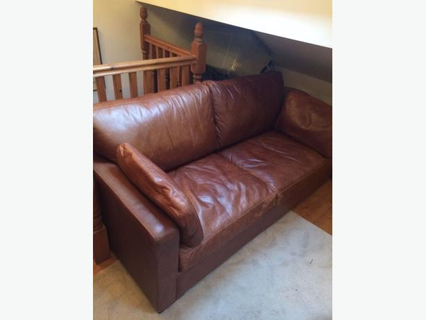 Leather Double Bed Settee